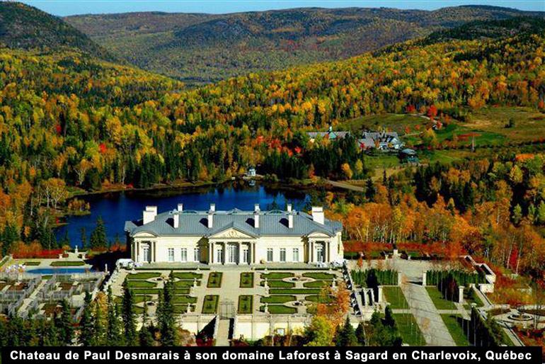 Chateau de Paul Desmarais à son domaine de Sagard en Charlevoix